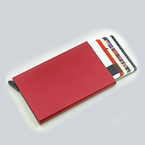 Tarjetero Metal Rojo
